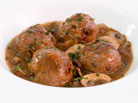 Albóndigas con salsa de champiñones